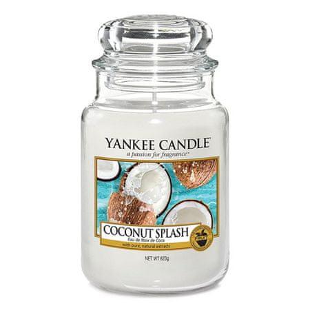 Yankee Candle Świeca w szklanym słoju Świeca Yankee, Orzeźwienie kokosowe, 623 g