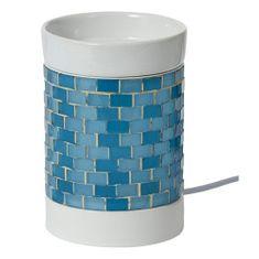 Yankee Candle Aromalampa elektrická , Modrá, svítící, výška 15 cm