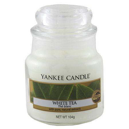 Yankee Candle Świeca w szklanym słoju Świeca Yankee, Biała herbata, 104 g