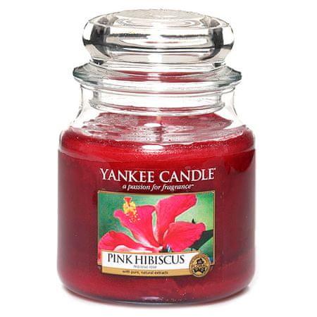 Yankee Candle gyertya üvegedénybe, Rózsaszín hibiszkusz, 410 g