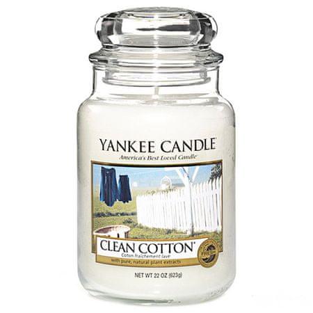 Yankee Candle Gyertya egy üvegedénybe a Yankee gyertyát, Tiszta pamut, 623 g
