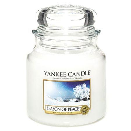 Yankee Candle Sveča v steklenem kozarcu , Obdobje miru, 410 g