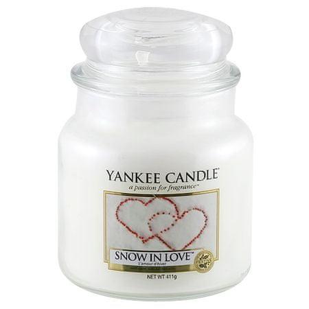 Yankee Candle gyertya üvegedénybe, Hó a szerelemben, 410 g