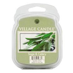 Village Candle Dišeča voska vaška sveča, Sveža žajbelj, 62 g