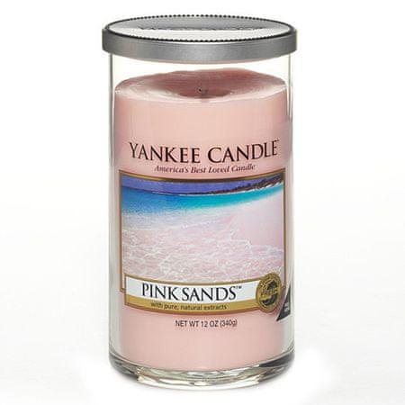 Yankee Candle Sveča v steklenem cilindru , Rožni peski, 340 g