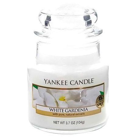 Yankee Candle gyertya üvegedénybe, Fehér gardénia, 104 g