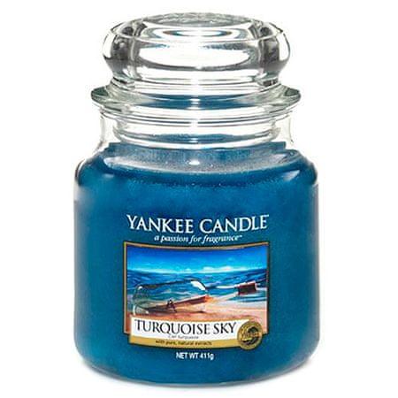 Yankee Candle gyertya üvegedénybe, Türkiz ég, 410 g