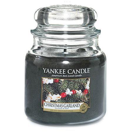 Yankee Candle Świeca w szklanym słoju Świeca Yankee, Wieniec świąteczny, 410 g