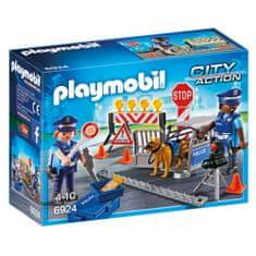 Playmobil Policajná zátarasa Playmobil, Polícia, 30 dielikov