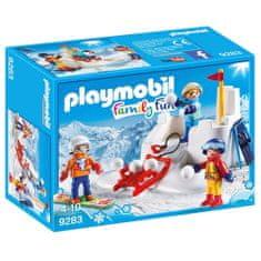 Playmobil Snehová bitka , Zimné športy, 30 dielikov