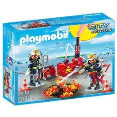 Playmobil Zásah hasičov s vodnou pumpou Playmobil, Hasiči, 28 dielikov