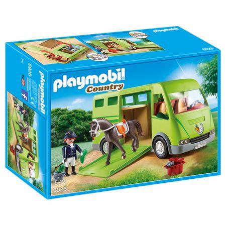 Playmobil konjski tovornjak, Jahalno dvorišče, 40 kosov