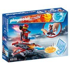 Playmobil Firebot s odpaľovačom , Šport a akcia, 8 dielikov