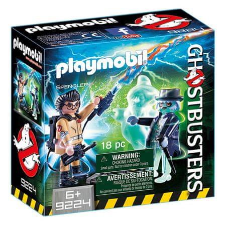 Playmobil Dr Spengler i duch , Pogromcy duchów, 20 sztuk