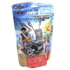 Playmobil Kalóz ágyúval, 1 baba egy interaktív fekete ágyúval, 24 darab