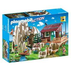 Playmobil Skala s horskou chatou , Záchranári, 80 dielikov