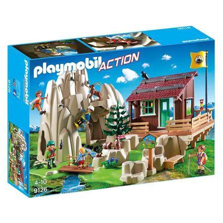 Playmobil Skała z górskim domkiem , Ratownicy, 80 sztuk