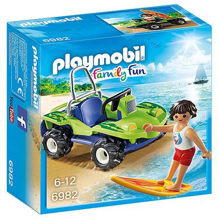Playmobil Surfař s plážovou buginou , Prázdniny, 20 dílků