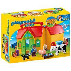 Playmobil Moja prvá prenosná farma , 1.2.3, 17 ks