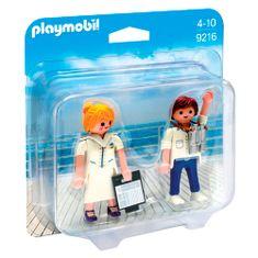 Playmobil Duo Pack Stevardka a důstojník , Prázdniny, 5 dílků