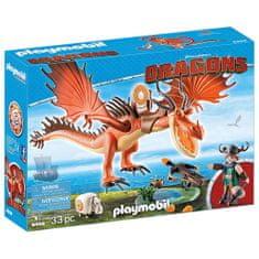 Playmobil Drak Tesák a Snoplivec Ksicht , Jak vycvičit draka, 33 dílků