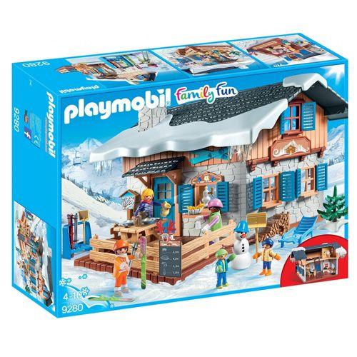 Playmobil Lyžiarska chata , Zimné športy, 146 dielikov