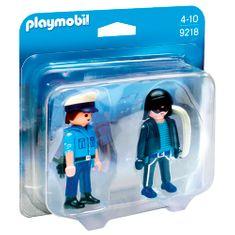 Playmobil Duo Pack Policista a zloděj , Policie, 7 dílků