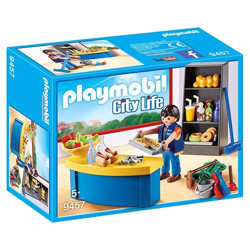 Playmobil Školník a stánok s občerstvením , Život v meste, 40 dielikov