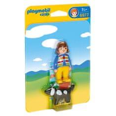 Playmobil Kislány egy kutyával , 1.2.3, 2 db