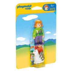 Playmobil Mała dziewczynka z kotem , 1.2.3, 2 szt