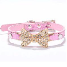 Doggie Fashion Obojek Bow růžový, vel. M