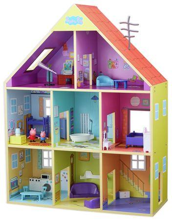 TM Toys Peppa Pig lesena hiša, vključno z opremo