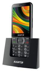 Aligator telefon komórkowy A900 Senior + ładowarka, czarny