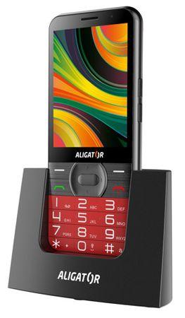 Aligator A900 Senior, červený + stolní nabíječka