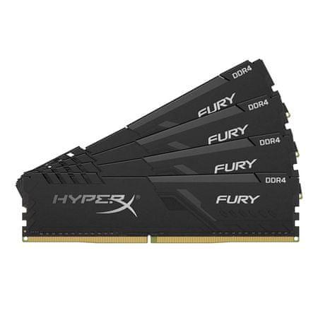 Kingston HyperX Fury HX432C16FB3K4/64 pomnilnik (RAM), DIMM, DDR4, PC3200, CL16, 64GB (4x16GB) (HX432C16FB3K4/64)