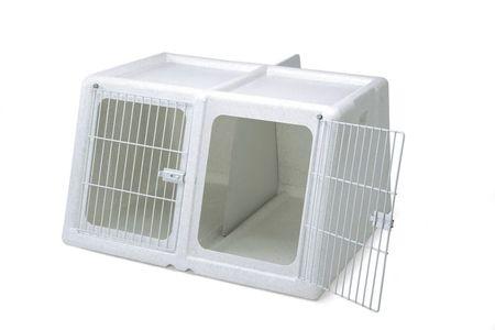 IMAC potovalni zaboj za dva psa, siv, 96x86x58 cm