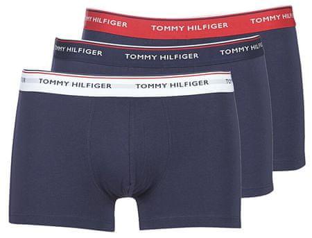 Tommy Hilfiger Bokserki męskie Premium Essen tial z bagażnikiem 3P 1U87903842 -904 Multi / Peacoat (Rozmiar M)