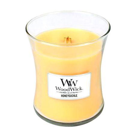 Woodwick Wazon zapachowy ze świecą wiciokrzew 275 g