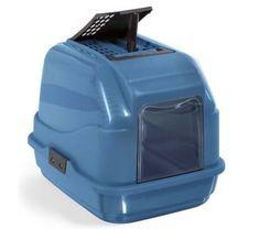 IMAC Krytý kočičí záchod z recyklovaného plastu s uhlíkovým filtrem, 50x40x40 cm