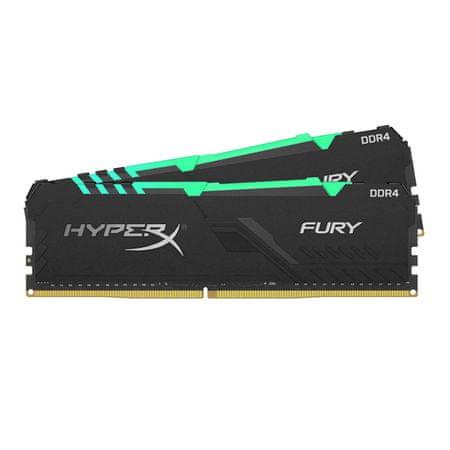 Kingston HyperX Fury HX432C16FB3AK2/16 pomnilnik (RAM), DIMM, DDR4, PC3200, CL16, RGB, 16GB (2x 8GB) (HX432C16FB3AK2/16)