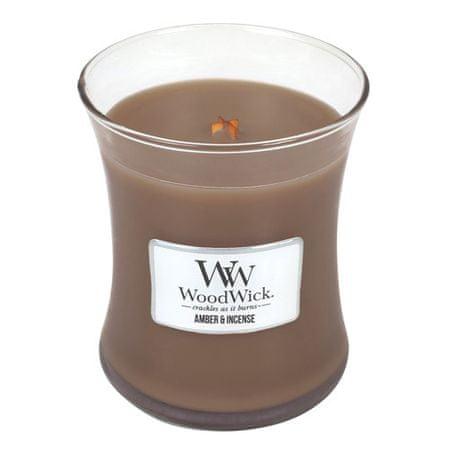 Woodwick Dišeča vaza za sveče Amber & Tamjan 275 g