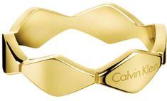 Calvin Klein Aranyozott gyűrű Snake KJ5DJR1001