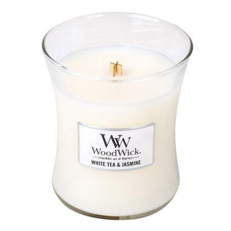 Woodwick Dišeča vaza za sveče Beli čaj in Jasmine 275 g