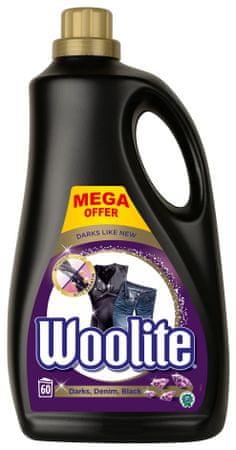 Woolite Dark, Black & Denim tekoči detergent 3.6 l / 60 odmerkov pranja