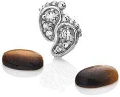Hot Diamonds Element ťapičkami s tigrími okami Anais EX200 striebro 925/1000