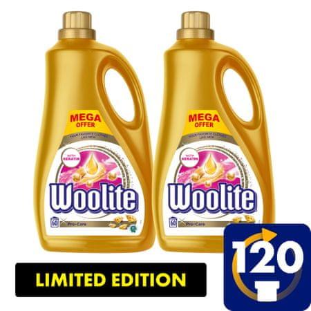 Woolite Pro-Care pralni detergent, 7.2 l / 120 odmerkov pranja