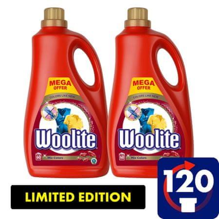 Woolite Mix Colors pralni detergent, 7.2 l / 120 odmerkov pranja