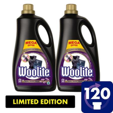 Woolite Dark, Black & Denim pralni detergent 7.2 l / 120 odmerkov pranja