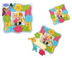 TOP BRIGHT Hodiny - puzzle Anna a Elsa