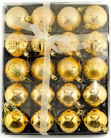 Seizis Súprava 20 gulí, zlaté - 6 cm
